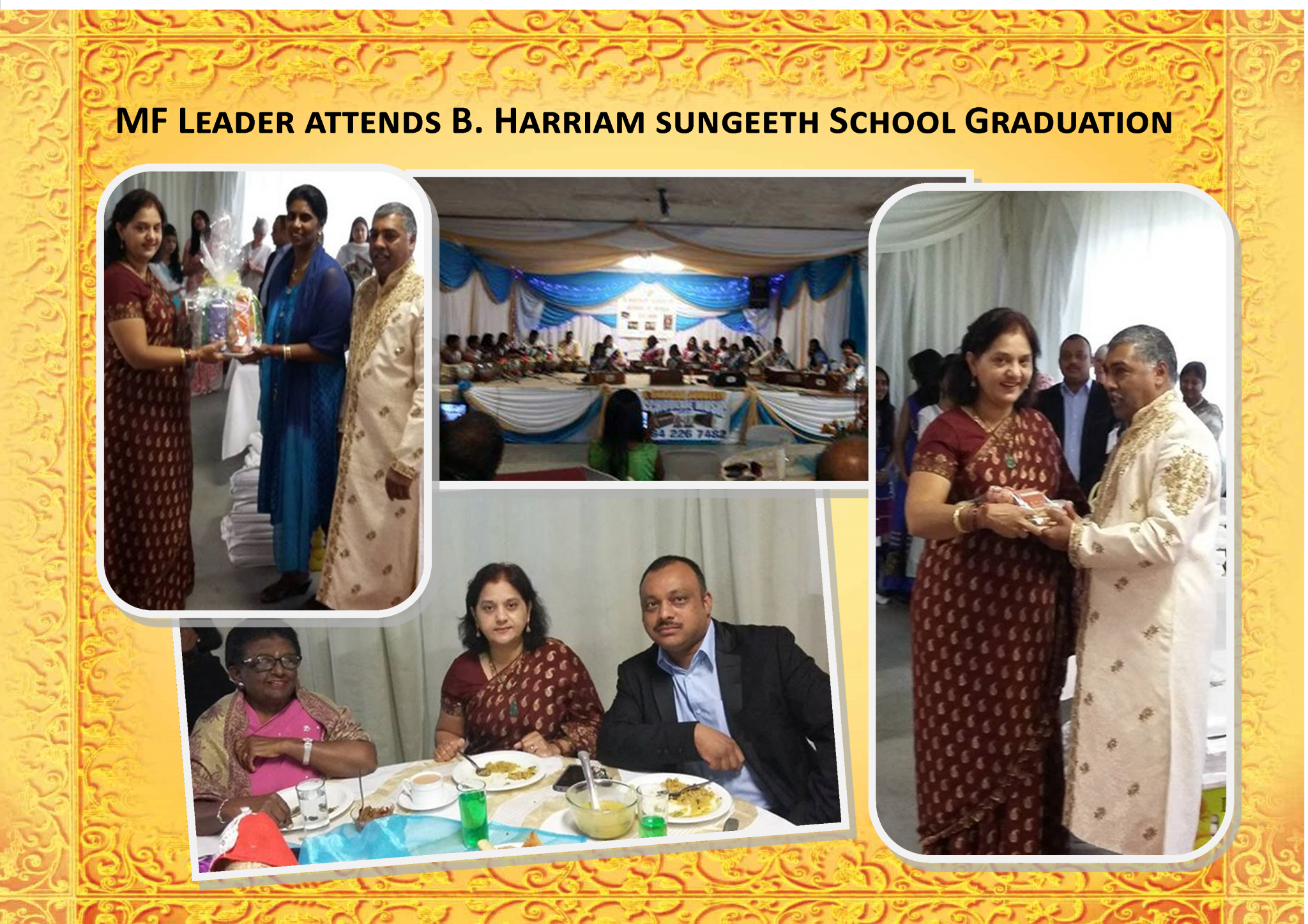 MF Leader Attends B Hariram School Music Graduation