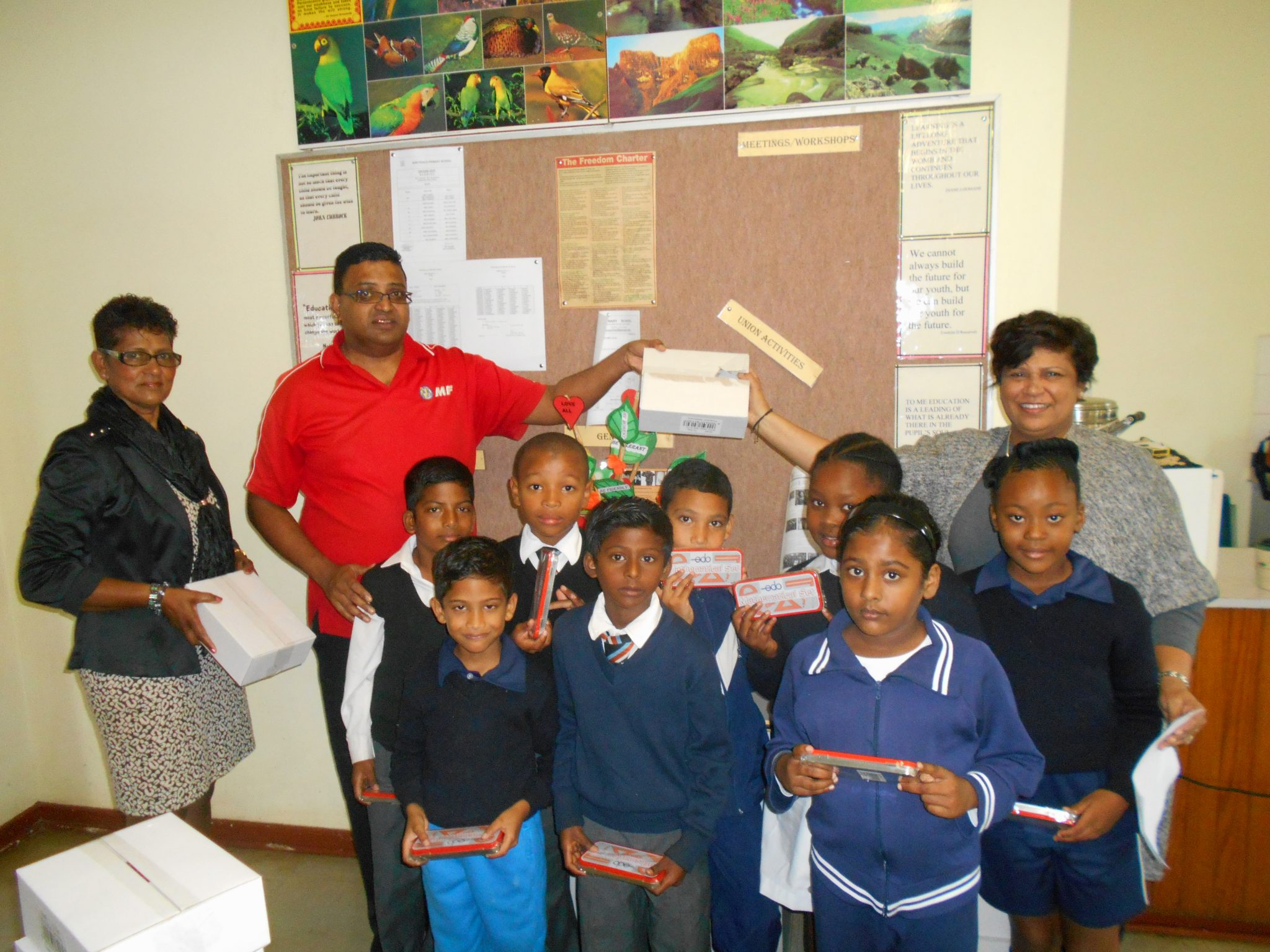 MF Gifts Math Sets To Pietermaritzburg School