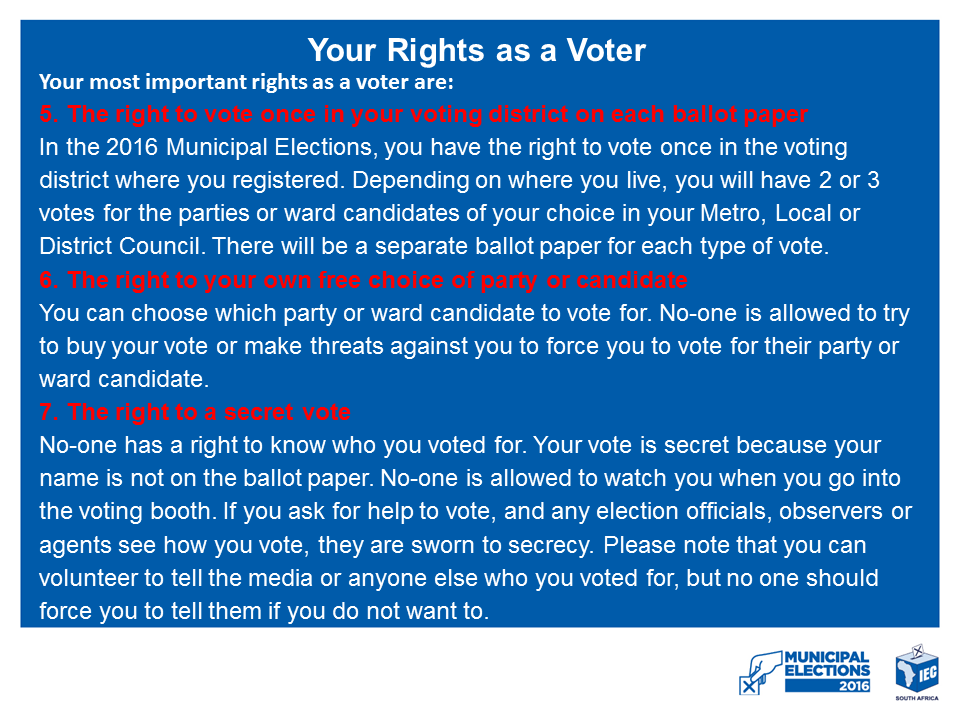 YOUR RIGHTS AS A VOTER 2
