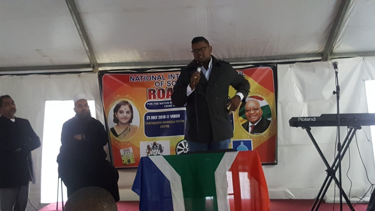 MF Cllr J Annipen Addresses the Members of The National Interfaith Council of South Africa at Their Roadshow of Nation Building on Prayer Against Crime and Crime as an Enemy Of The Economy