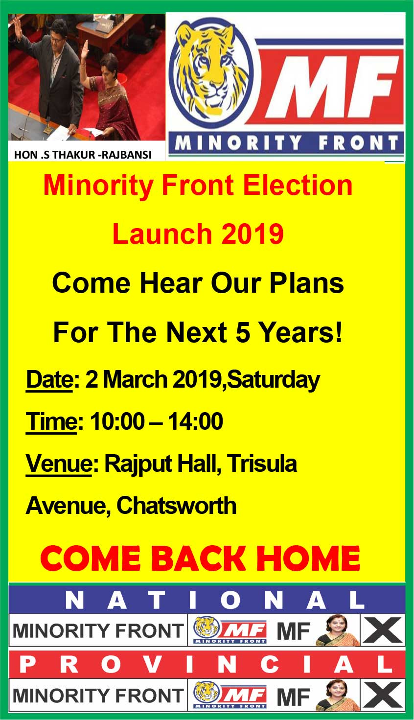 Final Advert for Election Launch 20/02/2019