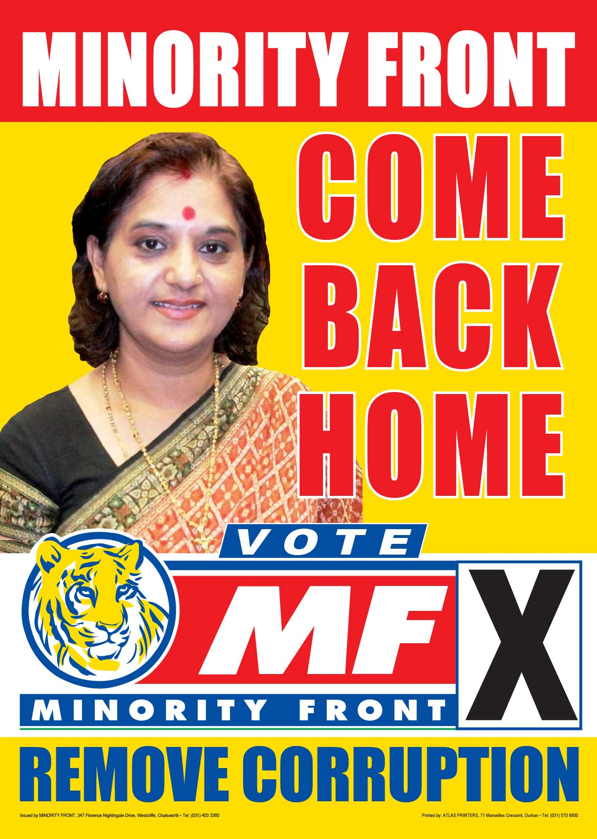 Come Back Home – MF Manifesto Launch Poster