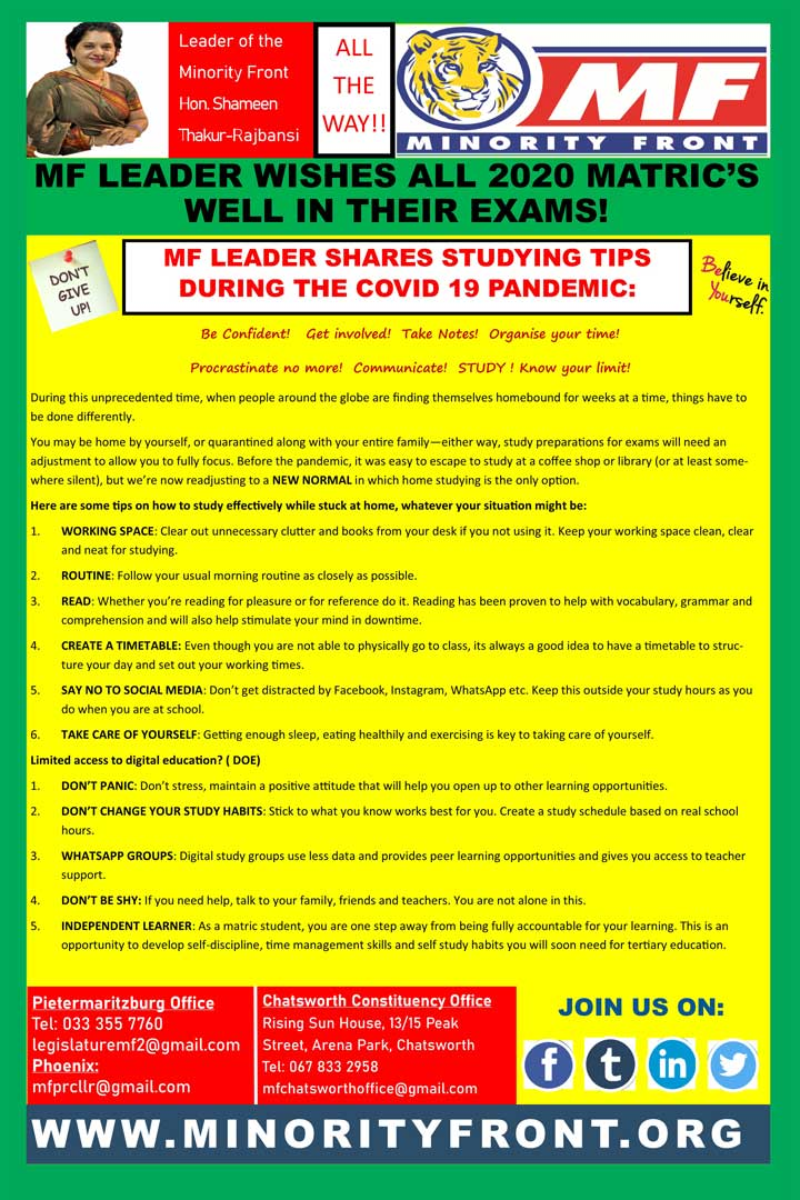 Matric 2020 Study Tips