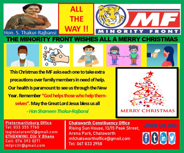 The Minority Front Wishes All A Merry Christmas